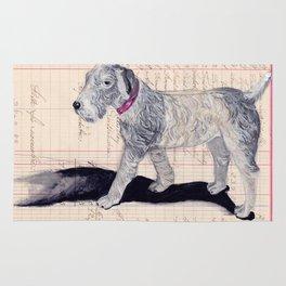 Vintage Celluloid Dog in Gouache Rug