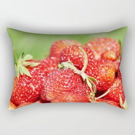 Plate with strawberry Rectangular Pillow