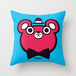 Bearbert Throw Pillow