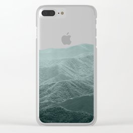 Mountains Pink + Green - Nature Photography Clear iPhone Case