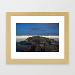 Cloudy Horizon Framed Art Print