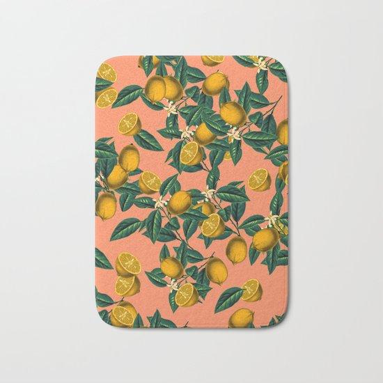 Lemon and Leaf Bath Mat
