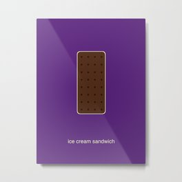 ice cream sandwich Metal Print