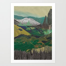 Buffalo Mountains Art Print