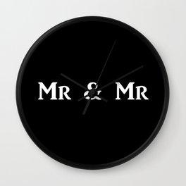 Mr & Mr Monogram bold Wall Clock