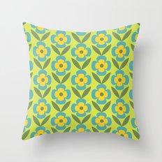Retro cold floral 1 Throw Pillow
