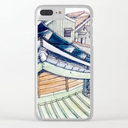 Roof between yesterday and tomorrow. Clear iPhone Case