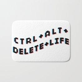 CTRL + ALT + DELETE + LIFE Bath Mat