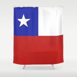 Chile flag emblem Shower Curtain