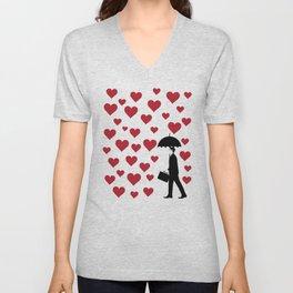 No Love Business Man Unisex V-Neck