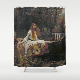 John William Waterhouse The Lady Of Shallot Original Painting Shower Curtain