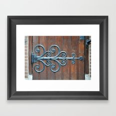 Church swirls Framed Art Print