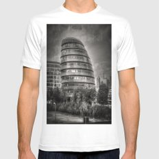 City Hall White MEDIUM Mens Fitted Tee