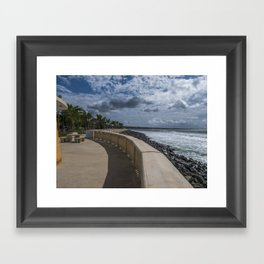 Aguadilla ocean view Framed Art Print