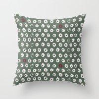 potato Throw Pillows featuring Potato by LutraLutraCards