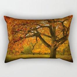 Red Oak Tree Rectangular Pillow