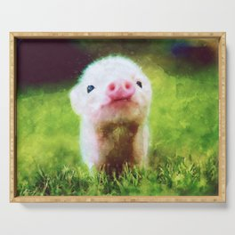CUTE LITTLE BABY PIG PIGLET Serving Tray