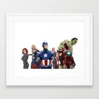 avenger Framed Art Prints featuring Avenger by Carrillo Art Studio