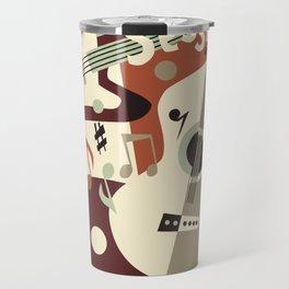 Guitar Music abstract Travel Mug