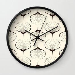 """Art Deco . No. 18 """"Shells."""" Wall Clock"""