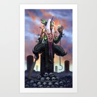 Harvester of Skulls Art Print