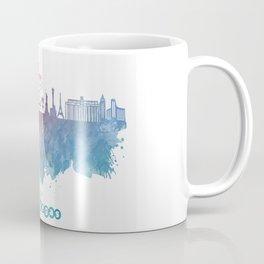Las Vegas Nevada Skyline colored Coffee Mug