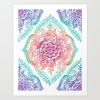 rainbow Art Prints featuring Indian Ink - Rainbow version by micklyn