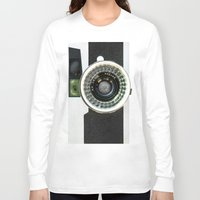 vintage camera Long Sleeve T-shirts featuring Vintage camera by cafelab