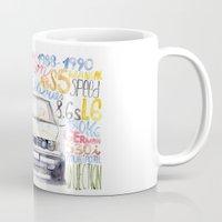 bmw Mugs featuring BMW e36 by dareba