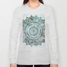 Emerald Jewel Mandala Long Sleeve T-shirt