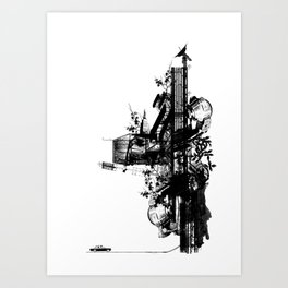 Drive in not through Art Print