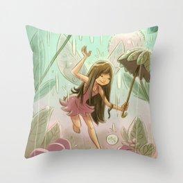 Goblins Drool, Fairies Rule! - Dewdrop Shower Throw Pillow