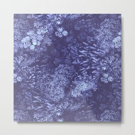 Tropical Forest Pattern Lilac Metal Print