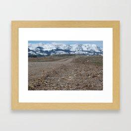 Bridger Mountains Framed Art Print
