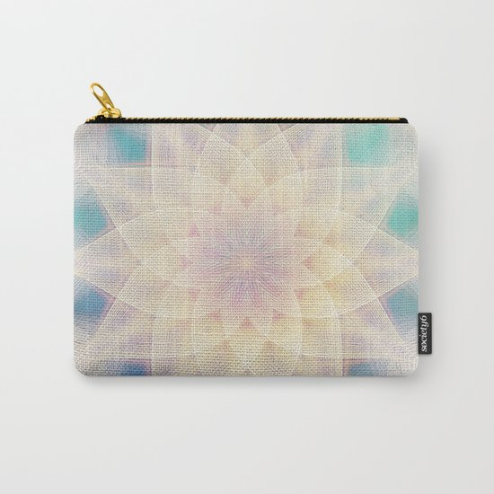 Water Lily Mandala Carry-All Pouch