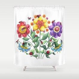 Ladybug Playground Shower Curtain