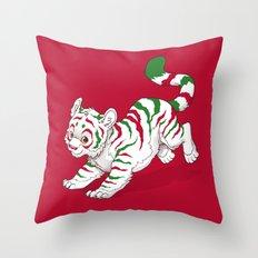 Candy Tiger Throw Pillow