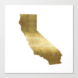 california gold foil state map  Canvas Print