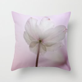 Wood Anemone in a late sunshine... Throw Pillow