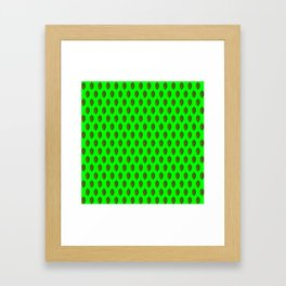 Hops Lime Pattern Framed Art Print