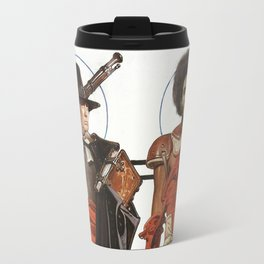 Thanksgiving In Modern America With Trump And Kapernick Travel Mug