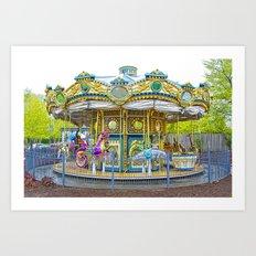 Carousel Ride in Pittsburgh Pennsylvania Art Print
