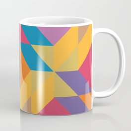 Blue Orange Magenta Yellow Geometric Abstract Coffee Mug