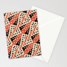 Chocktaw Geometric Square Cutout Pattern - Iron Oxide Stationery Cards
