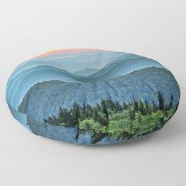 Mountain Range Sunset Floor Pillow