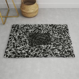 Black and white marble texture 8 Rug