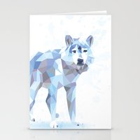 low poly Stationery Cards featuring Low Poly Wolf by idrux