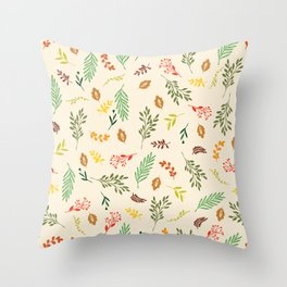 Colorful autumn leaves Throw Pillow