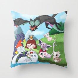 pokefriend Throw Pillow