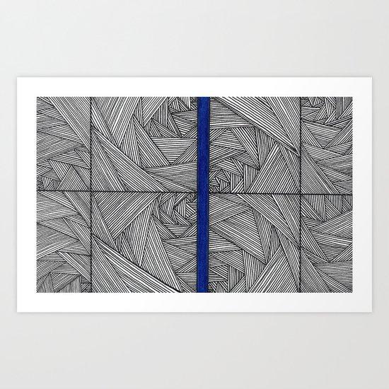 A Little Blue 3 Art Print